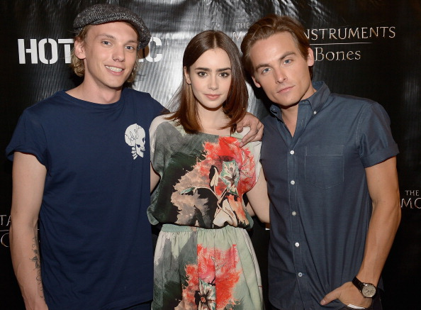 "Lily Collins, Jamie Campbell Bower, And Kevin Zegers Of ""The Mortal Instruments"" In Miami"