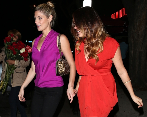 Ashley Greene and boyfriend Paul Khoury cruise over to Hooray Henry's